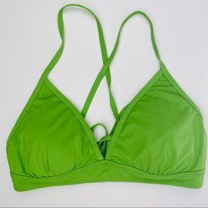 Athleta Swim Top Only Green Bikini size L women's